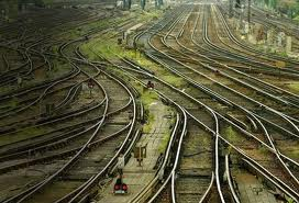 scrambled railway tracks