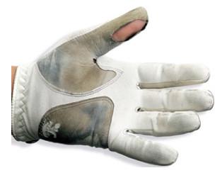 worn glove